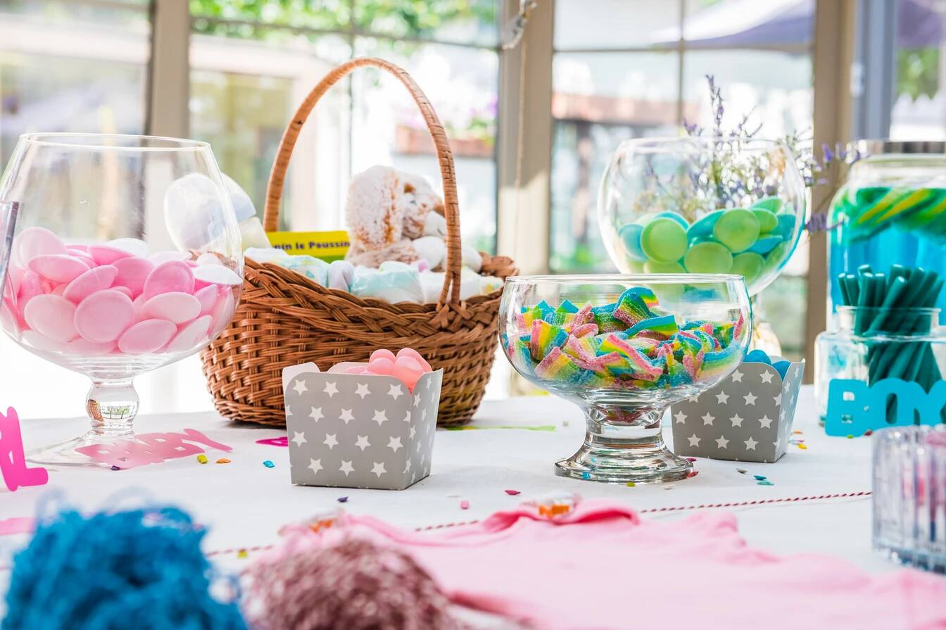 bar à bonbon baby shower