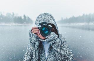 appareil photo neige