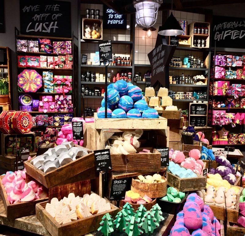 magasin lush couleurs 5 sens