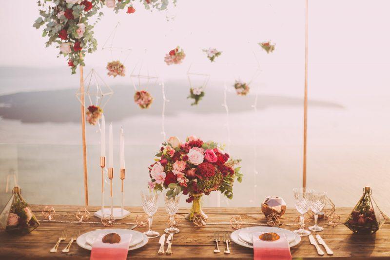 decoration fleurs vaisselle