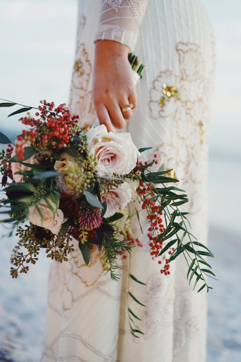 fleurs robe mariage