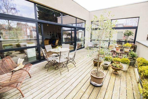 atelier sylvie plantes terrasse baie vitrée