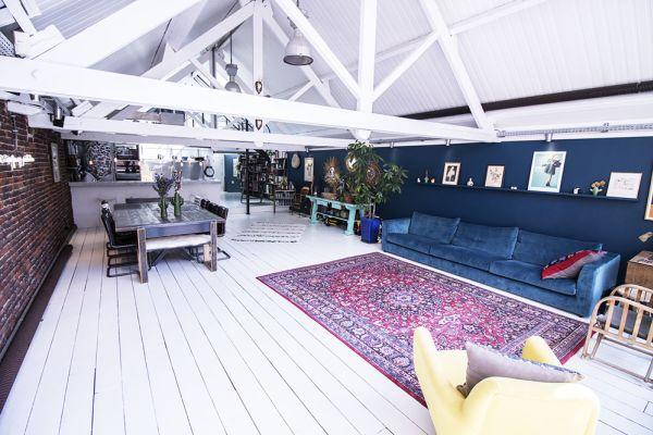 loft océane brice jaune tapis oriental blanc bleu
