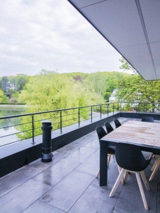 terrasse, lac