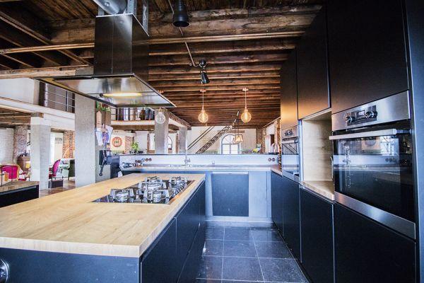 loft onehousestand bois marron
